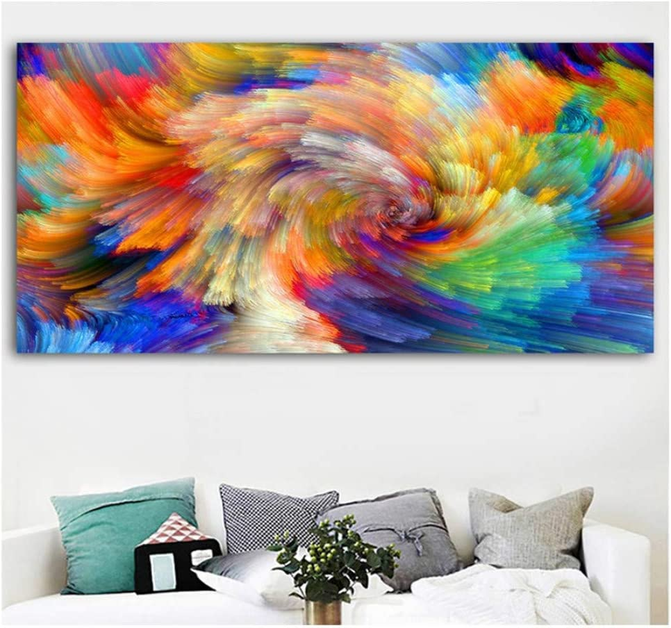 5D Diamond Painting Kit Grande DIY Completo Diamante Pintura Bordado Punto de Cruz Cristal Rhinestone para Hogar Sala Estar Decor pared Regalo Cuadro abstracto de nubes Psychedel Square drill,30x60cm