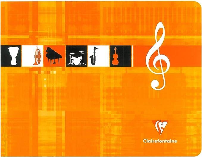 48 pages 22 x 17 cm /à litalienne Metric Cahier de musique reliure piq/ûre Clairefontaine 3754