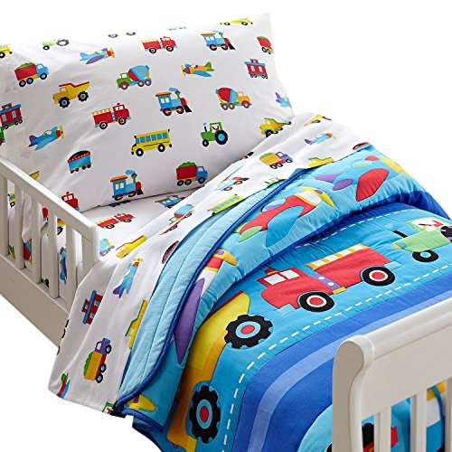 planes trains and trucks bedding - 9