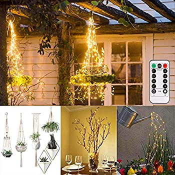 ALOVECO Battery Operated String Lights 2 Pack with Remote Timer