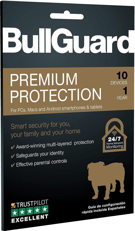 Amazon com: BullGuard Premium Protection 2019, 10 User [Key