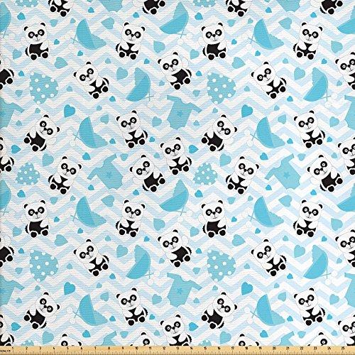 blue chevron upholstery fabric - 9