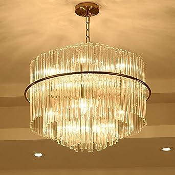 junhong Lighting LED blanco cálido claro cristal oro acero inoxidable Araña Lámpara de techo lámpara de