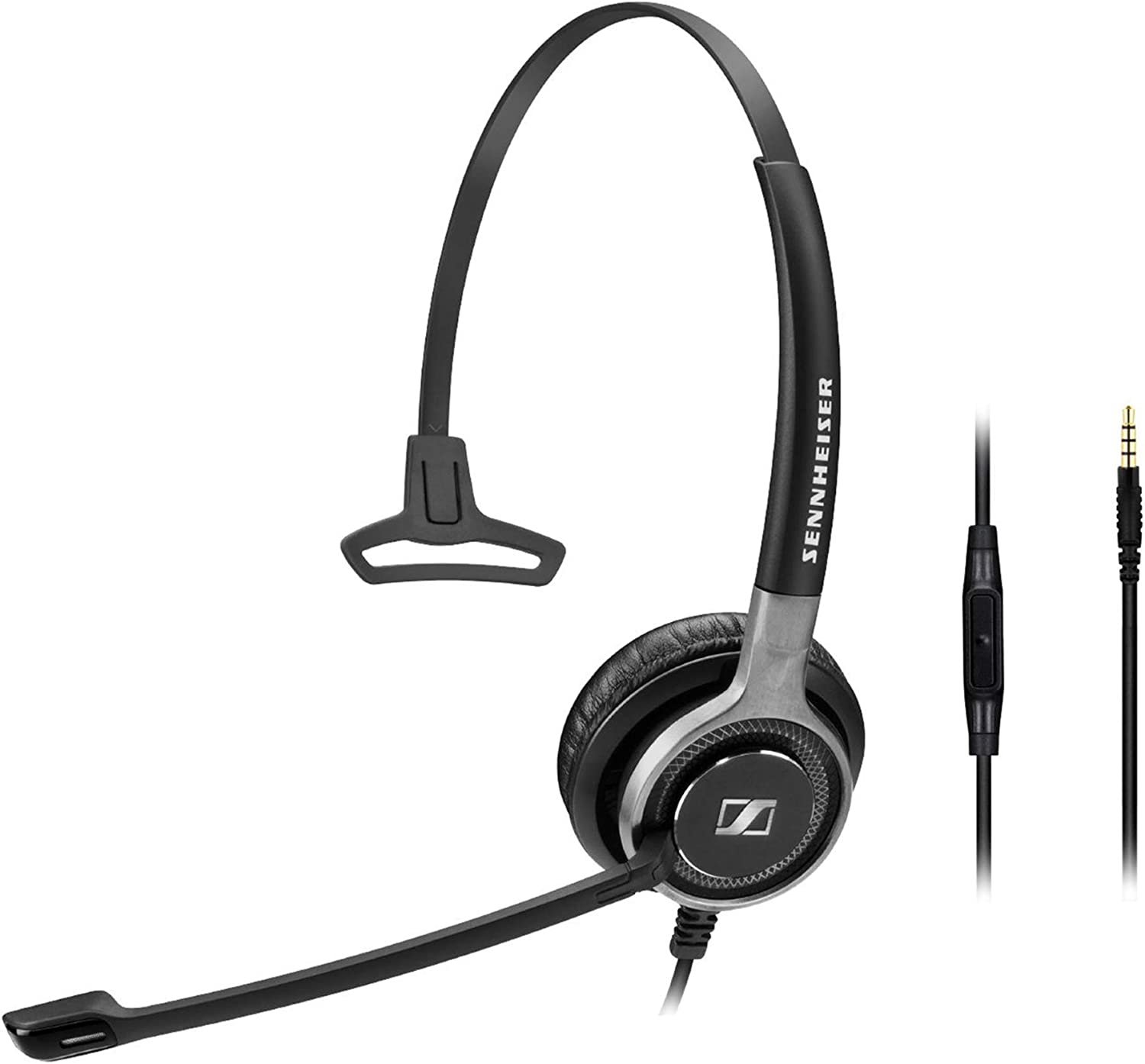 Sennheiser SC 635 (507253) - Single-Sided Business Headset | For Mobile Phone and Tablet | with HD Sound & Ultra Noise-Cancelling Microphone (Black)