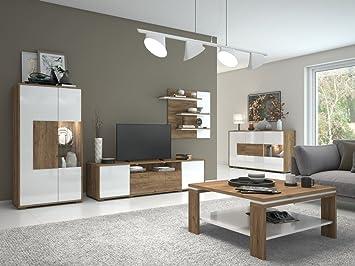 Genial Wohnzimmer Komplett   Set B Manase, 5 Teilig, Farbe: Eiche Braun /