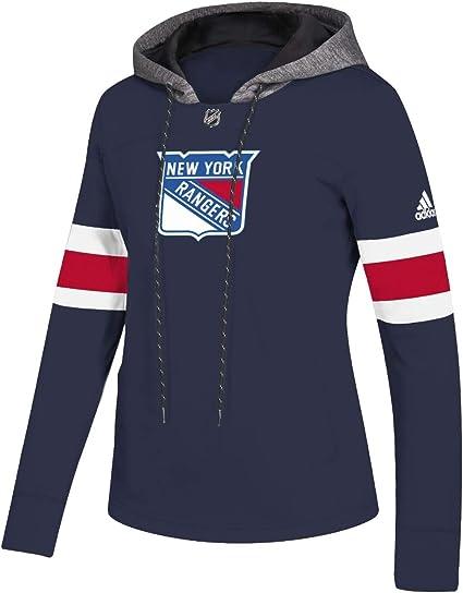 adidas New York Rangers Womens NHL Offsides Premium Hooded Sweatshirt
