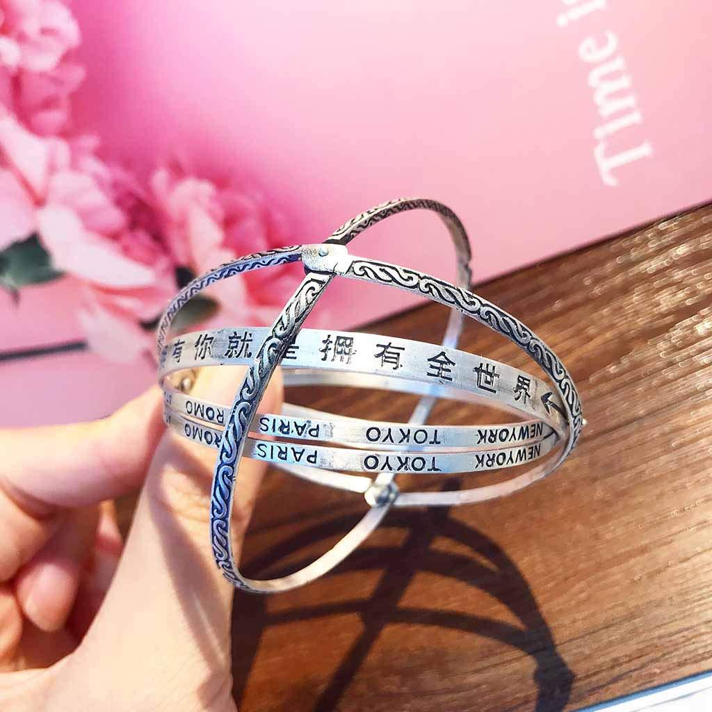 htfrgeds Fashion Astronomical Sphere 3D Bracelet, Cosmic ...