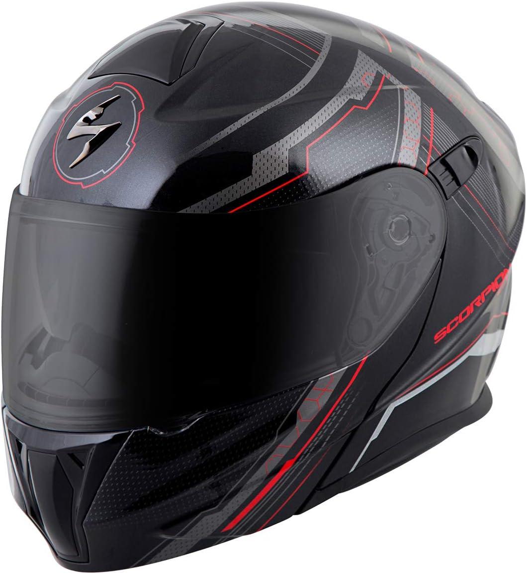 ScorpionExo EXO-GT920 Full Face Modular Helmet (Satellite Red, Small)