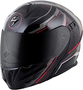 ScorpionExo EXO-GT920 Full Face Modular Helmet (Satellite Red, Medium)