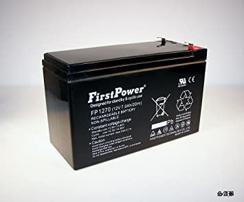 FirstPower 12v 7ah First Alert ADT Alarm Battery