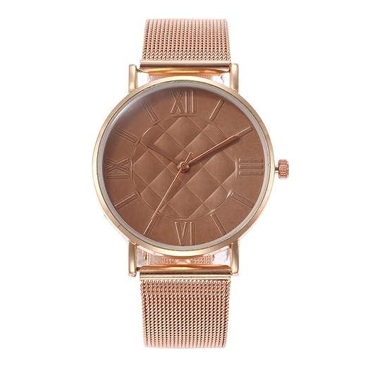 Mujer Reloj Hebilla Magnetica Correa De Malla Analógico De Cuarzo Relojes Moda Relojes De Pulsera Deslumbrante Señoras Watches: Amazon.es: Relojes