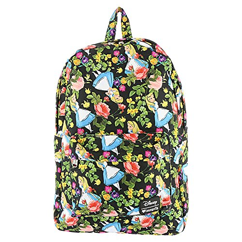 Loungefly Alice In Wonderland Floral Backpack (Black/Multi)