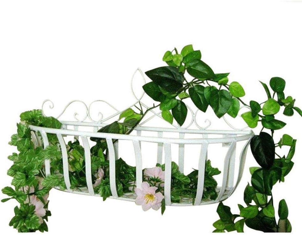Yves25Tate Holder /Étag/ère de Rangement Accueil /étag/ère de Salon /Étag/ère Murale Support de Pot de Fleur Suspendu Balcon (Blanc//Noir)