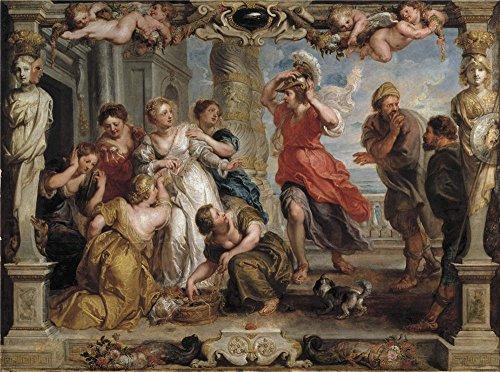 Oil Painting 'Rubens Peter Paul (and Workshop) Aquiles Descubierto Por Ulises Entre Las Hijas De Licomedes 1630 35' 20 x 27 inch / 51 x 68 cm , on High Definition HD canvas prints, Basement, B decor