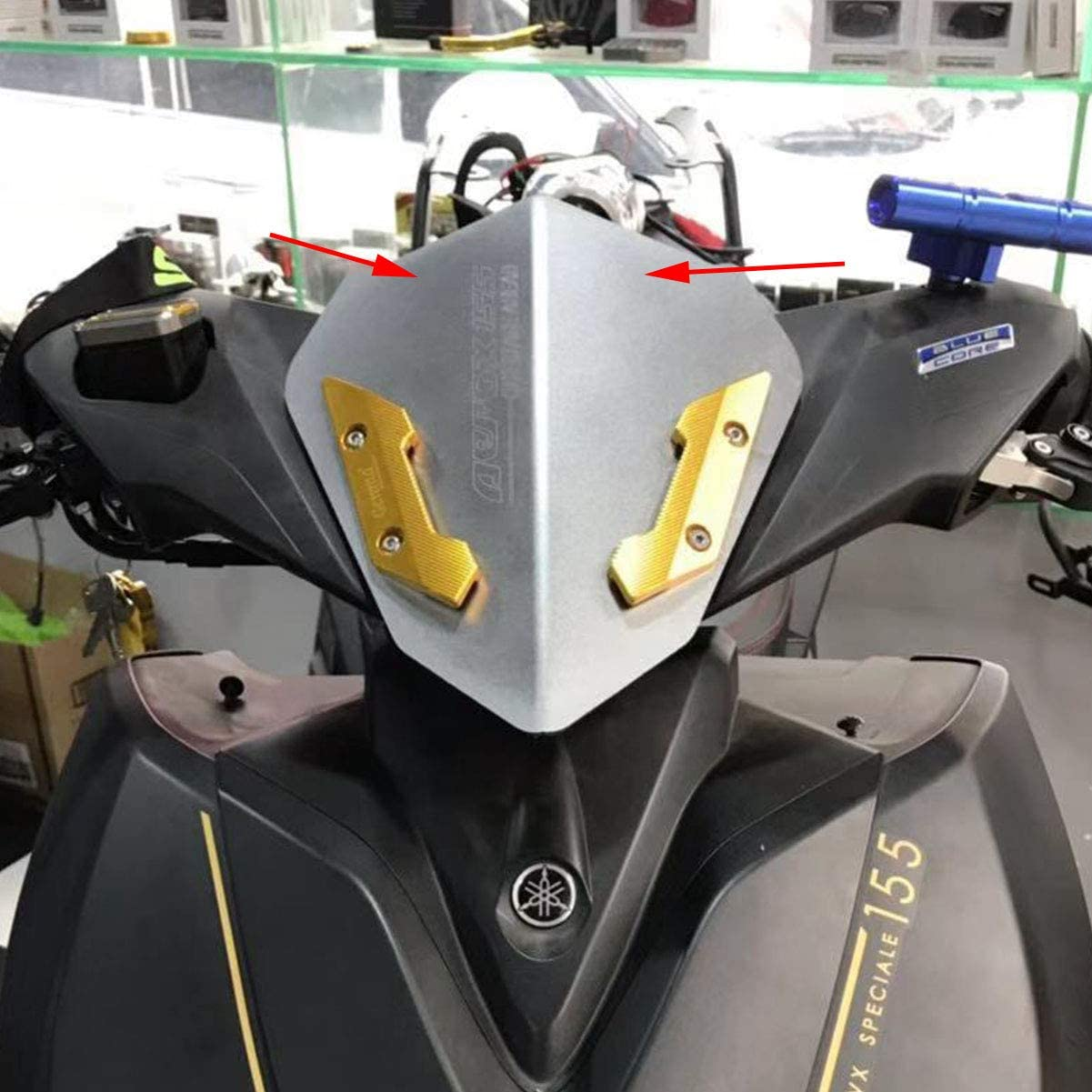 Semspeed Windshield For Yamaha NVX155 2017 2018 Aerox 155 2018 2017 NVX 155 Aerox155 Windscreen Air Deflector Scooter AEROX 155 NVX 155 Black