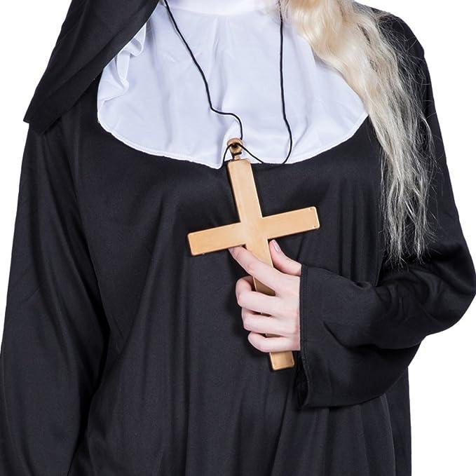 Amazon.com: luoem disfraces de Halloween disfraz de monja ...