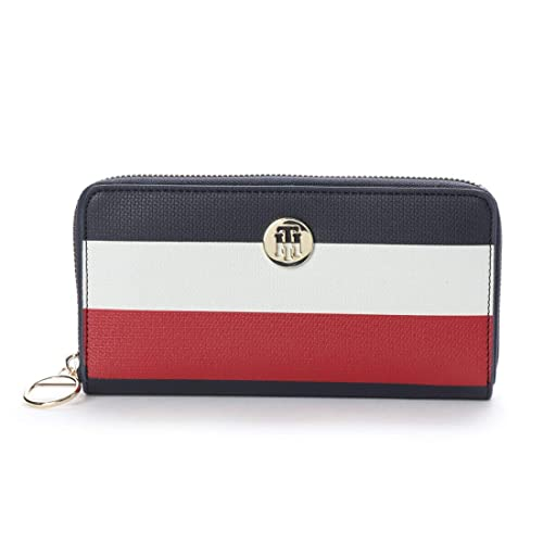 Tommy Hilfiger - Effortless Saffiano Za Wallet, Carteras Mujer, Azul (Corporate),