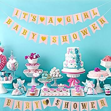 LUCK COLLECTION Niñas Baby Shower Party Decorations Es una ...