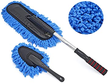 IPELY Super Soft Microfiber Car Duster Exterior with Extendable Handle Car Brush Duster for Car Cleaning Dusting