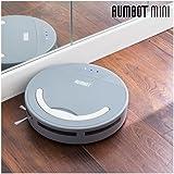 Oomnidomo-Rumbot - Mini-robot aspirapolvere intelligente, spazzola laterale 360°, batteria ricaricabile, serbatoio 500 ml, 100 min di autonomia