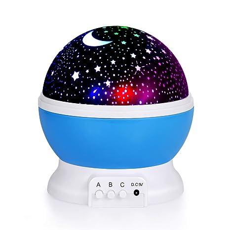 Amazon.com: Luz nocturna para niños, proyector de estrellas ...