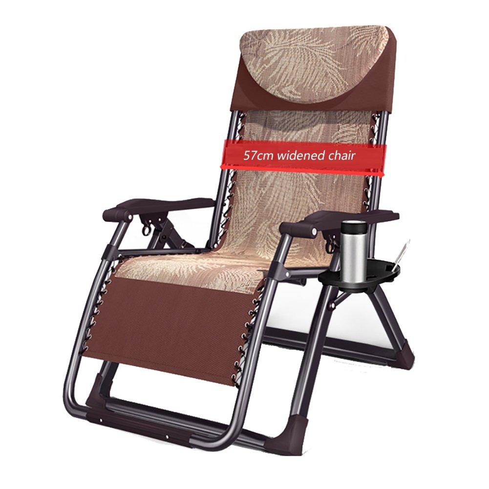 ZGL Relaxsessel & -liegen Klapp Lounge Stuhl Widen Stuhl Stuhl Stuhl Mittagspause Couch Büro Klappstuhl Erwachsene Recliners Garten Klappstuhl Gartenstuhl (Farbe   Schwarz) 05e4b2