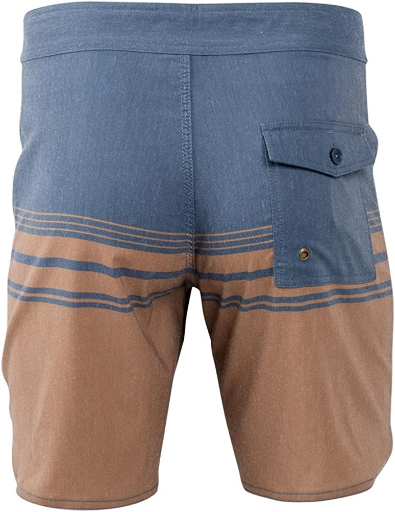 United By Blue Mens Backwater Scallop Boardshorts