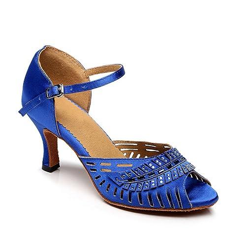 misu - Zapatillas de danza para mujer azul azul, color azul, talla 36.5