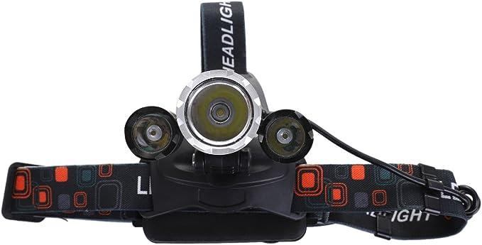 WOVELOT 6000Lm 3 LED XM-L2 T6 Phares Lampe de Base UE Chargeur 2x18650 Batterie