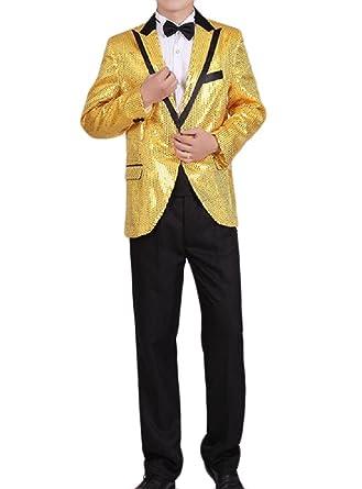 Aooword-men clothes Corbata de lentejuelas desgastar tops club ...