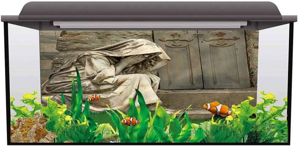 Aquarium Fish Tank Sculptures,Greek Mythology Figure Decals Poster