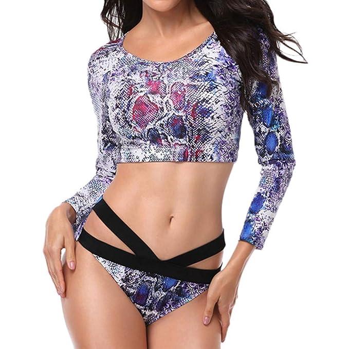 Amazon.com: Sunmoot Surf Tankini Set for Women Sexy Snake ...