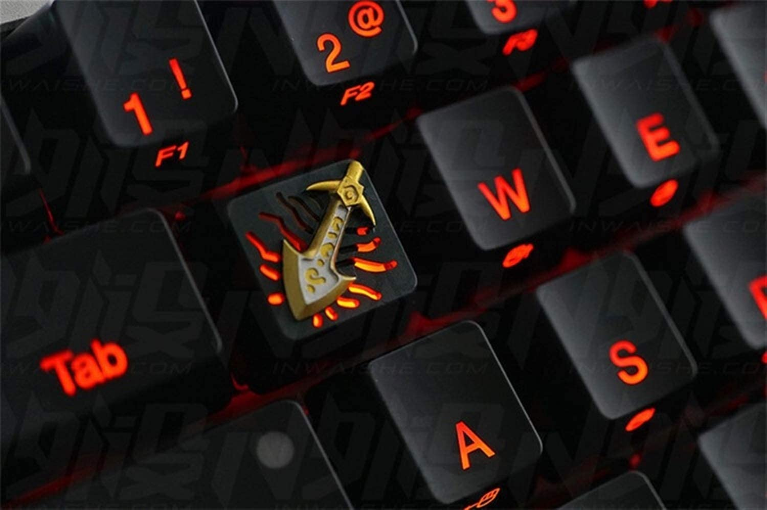 Color : Electric Knife Keyboard keycaps 1pc HolyOOPS Mechanical Keyboard Aluminium Alloy Key Cap for Infinity Edge All Metal Translucent Keycaps