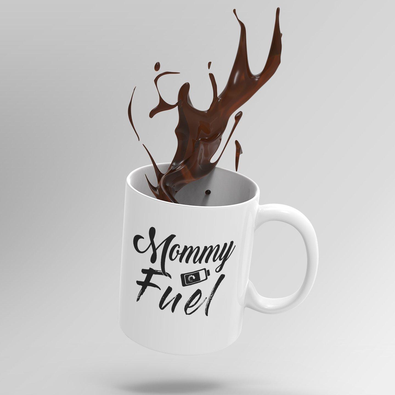 C/_Mug/_MomFuel 11 oz, White Shop4Ever Mommy Fuel Novelty Ceramic Coffee Mug Tea Cup Gift ~ Mom ~