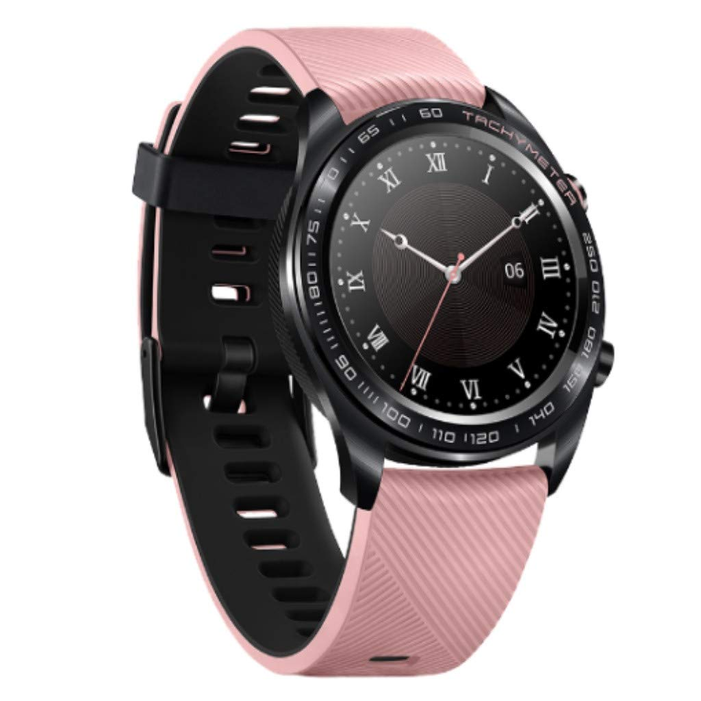Honor Watch Dream Smart Watch, Fitness Sport Sleep Run Cycling Swimming GPS/AMOLED Color - Ultra-Thin /50 Meters Waterproof/NFC Payment/One Week Standby (Black) by Honor Watch