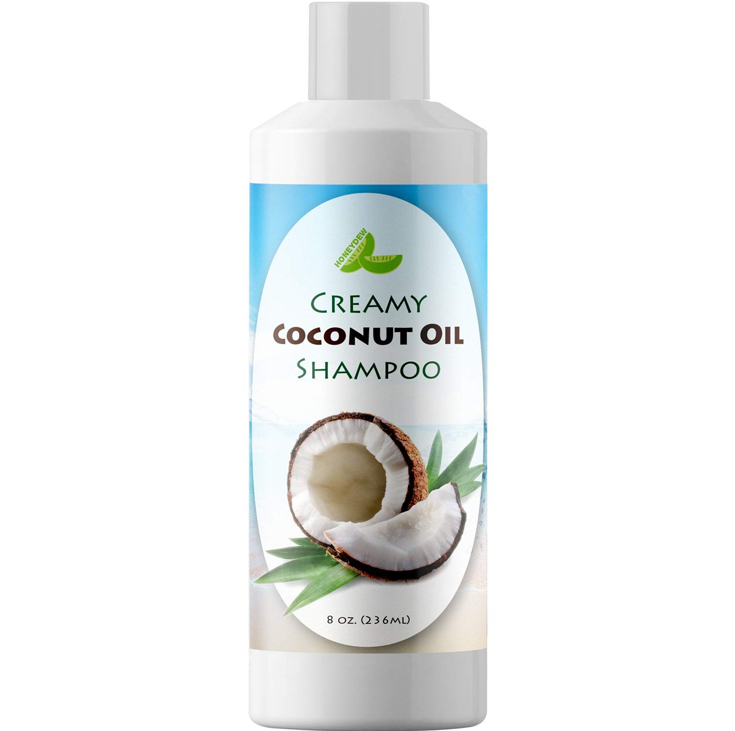 All Natural Coconut Oil Shampoo for Hair Growth - Hair Regrowth Treatment for Men and Women - Best Sulfate Free Moisturizing Shampoo - Safe for Color Treated Hair - Nourishing Hair and Scalp Treatment by Honeydew (Image #6)