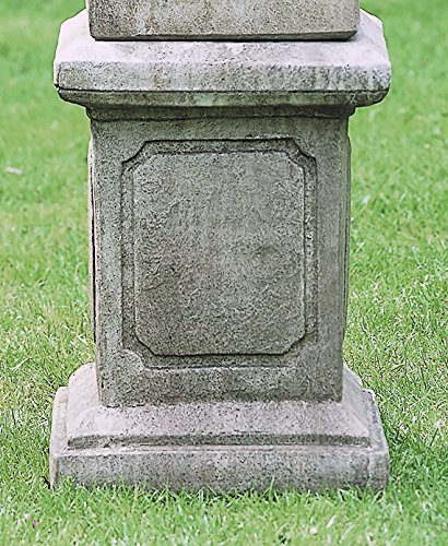 Campania International PD-22-AL Square Frame Pedestal, large, Aged Limestone (Square Pedestal Cast)