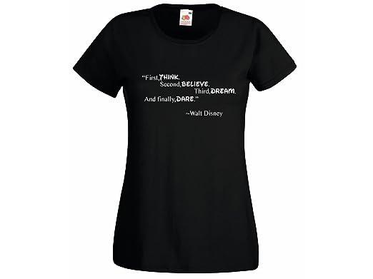 bca159c0 Womens T-Shirt Walt Disney Quote Thing belive dream finally dare Design  Tshirt