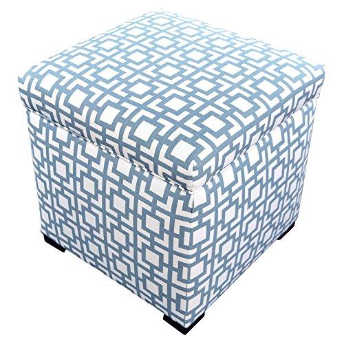 MJL Furniture Designs Tami Collection Fabric Upholstered Lift Top Storage Foot Rest Cube Ottoman, Gigi Series, Saffron Gray
