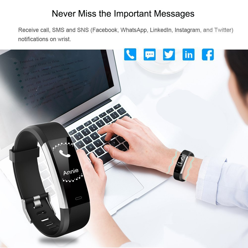 Amazon.com : ITRACKER Fitness Tracker [2019], Activity Tracker Watch with Heart Rate Monitor, Waterproof Smart Bracelet with Step Counter, Calorie Counter, ...