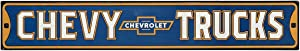 Open Road Brands Chevrolet Blue and Yellow Chevy Trucks Embossed Metal Wall Art Street Sign - an Officially Licensed Product Great Addition to Add What You Love to Your Home/Garage Décor