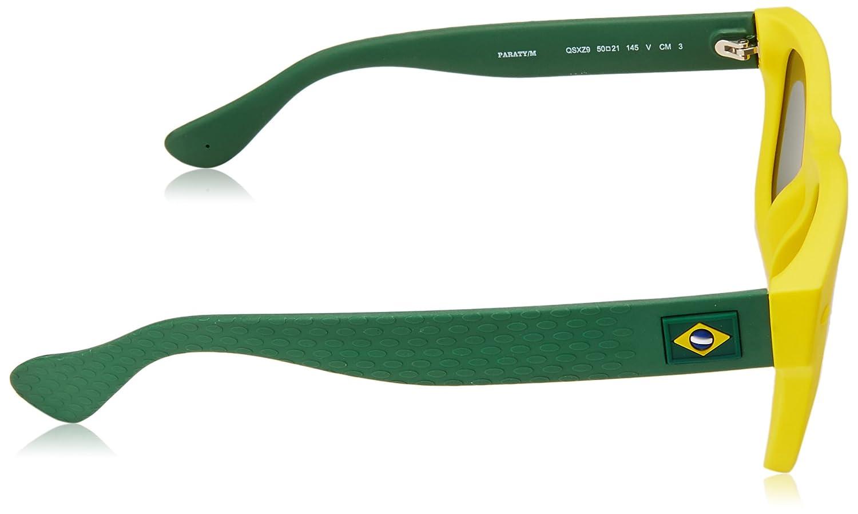 Adulto PARATY//M Z9 QSX 50 Occhiali da sole Yellow Green//Grey Giallo Havaianas Unisex