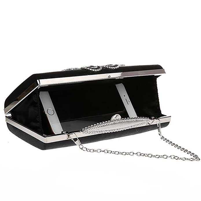 KAXIDY Handbags Flowers Evening Clutch Bags Sequin Wedding Bridal Prom Party Purse Clutches Bags (Black): Handbags: Amazon.com