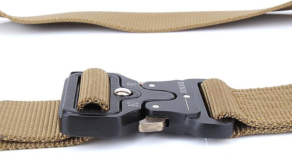 1.7 Cintur/ón t/áctico resistente de la cintura Cinturones militares ajustables de nylon Cintur/ón web de nylon con hebilla met/álica de liberaci/ón r/ápida QX Cintur/ón t/áctico