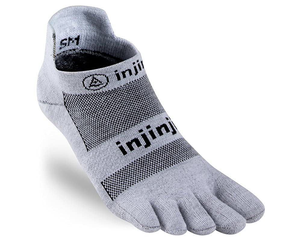 Injinji Run Lightweight Socks No-Show Black 201110