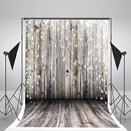 5x7ft Light Grey Wood Wall Photography Backdrop Gray Wooden Floor Photo Backgrounds for Christmas CCJ02424 -
