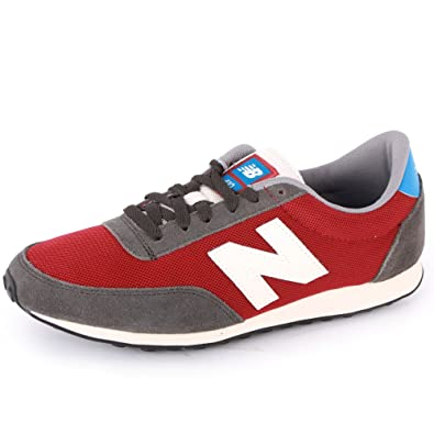 08fd6219c7cfd New Balance 410 U410HKR Mens Laced Suede & Mesh Trainers Dark Red - 11:  Amazon.co.uk: Shoes & Bags