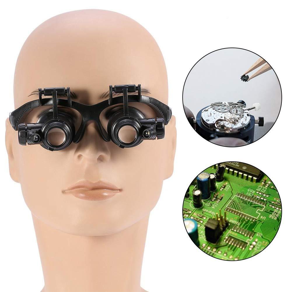 Lente di ingrandimento Testa di fascia Indossare Lente di ingrandimento Occhio doppio Occhio Gioielli Riparazione Riparazione Lente di ingrandimento Occhiali Lente di ingrandimento montata su testa