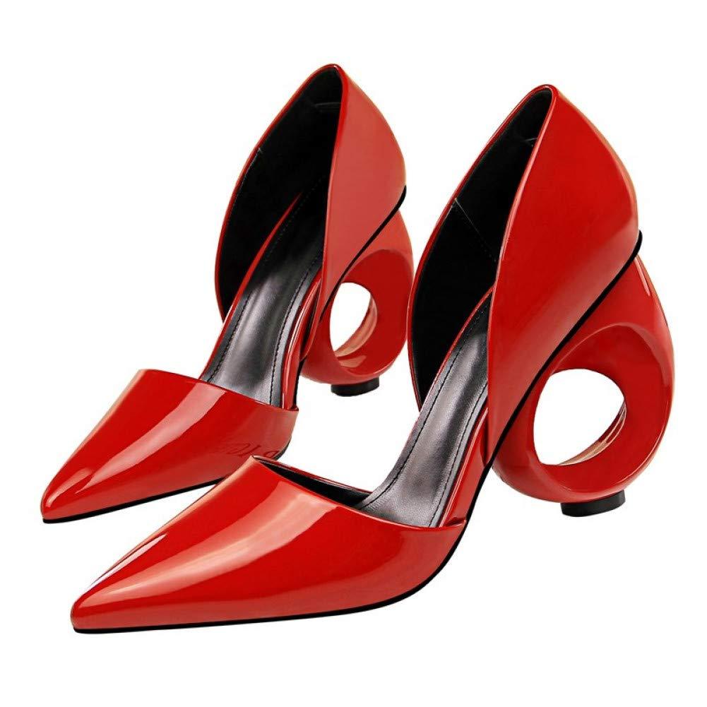 Ai Ai Ai Ya-liangxie Neue Pearl Frauen High Heel Schuhe Vintage Dicker Absatz Schuhe Bequem Mid Heel 5 cm Schuhe Frau 249645