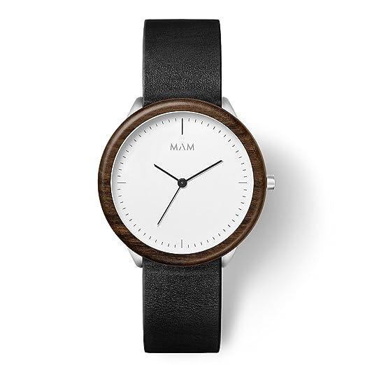 MAM Originals · Stainless Light Teak Black | Reloj de Hombre | Diseño Minimalista | Creado con Madera de Teca sostenible y Acero Inoxidable Reciclado: ...